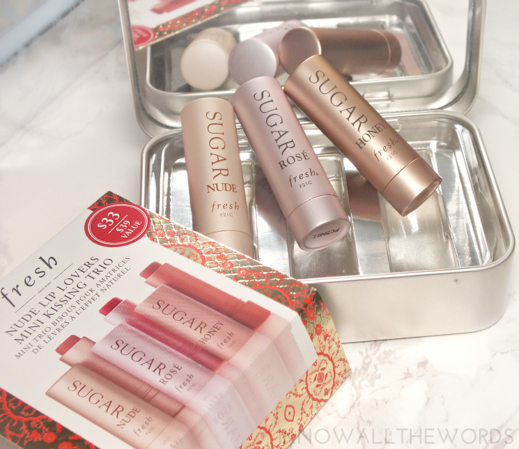 Fresh Nude Lip Lovers Mini Kissing Trio