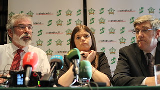 Gerry Adams, Kathleen Funchion and John O'Dowd