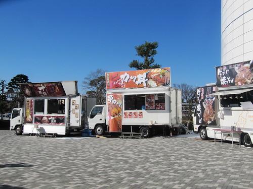中山競馬場の南門付近のキッチンカー