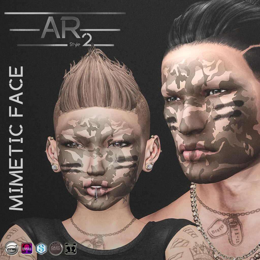 [AR2 Style] Mimetic Face - SecondLifeHub.com