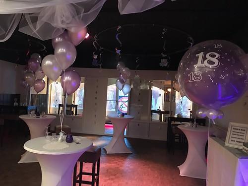 Tafeldecoratie 5ballonnen Partycentrum Valentijn Vlaardingen