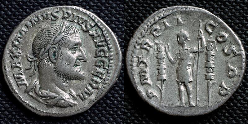 Denarius showing Maximinus Thrax