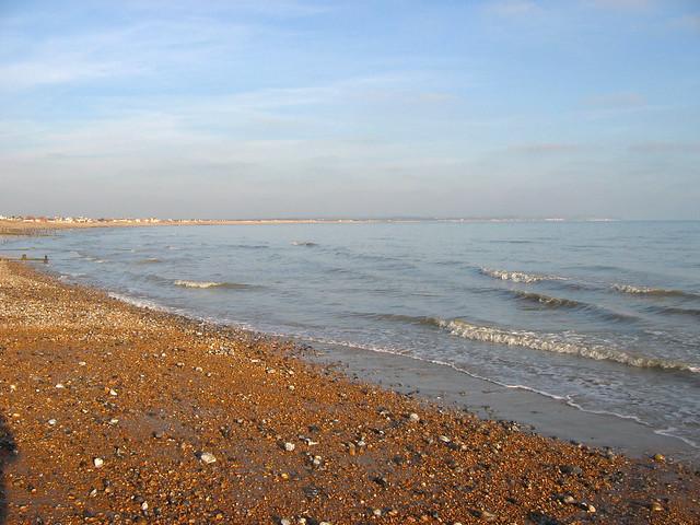 The beach near Pevensey Bay
