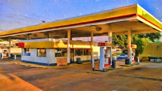 Shell Station topaz impression liquid lines 80 pct