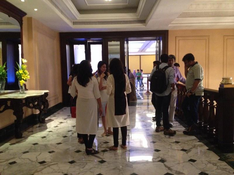 Lobby of Grand Hotel - Berger Express Painting IndiBlogger Meet 2015 at The Oberoi Grand, Kolkata