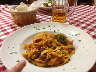 Veggie pasta at Messina, Frankfurt