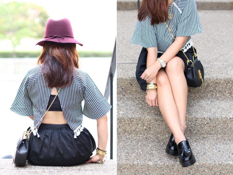 Pink-Basis-Tassel-Crop-Top-open-back-skirt-loafers-12
