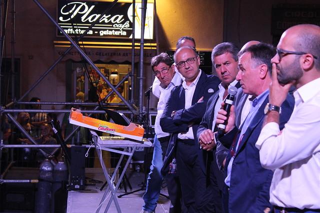 Rutigliano- Sagra dell'uva- vincitori dei concorsi-L'intervento del vice sindaco Pinuccio Valenzano