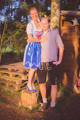 Paar zum Oktoberfest