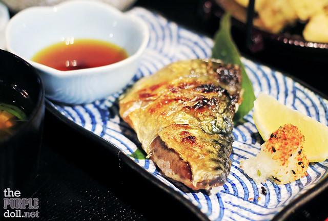 Saba Yaki (grilled mackerel)