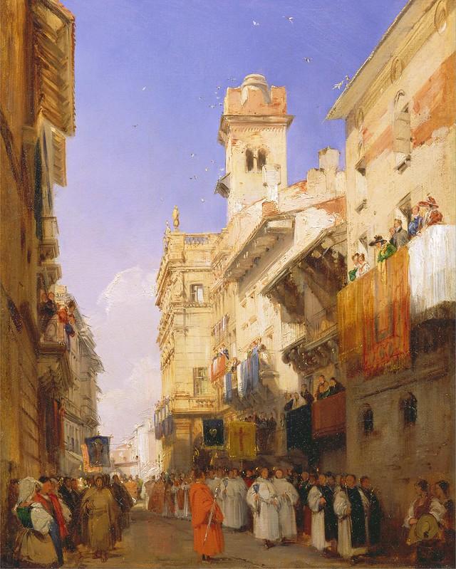 Richard Parkes Bonington - Corso Santa Anastasia, Verona [1828]