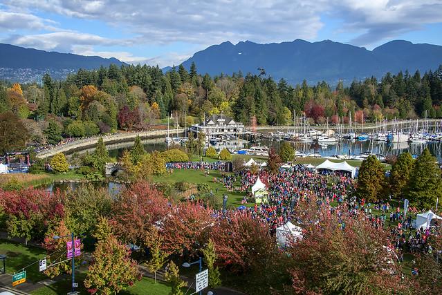 Vancouver Rock 'n' Roll Marathon Stanley Park Finish
