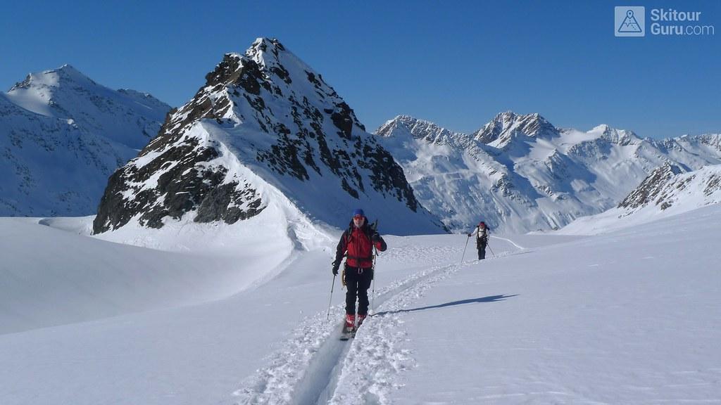 Annakogel 3336 m, Langtalerechhütte, Ötztaler Alpen, Obergurgl, Tirol, Austria, http://skitourguru.com/tura/13-annakogel