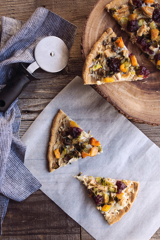 Thanksgiving Leftovers Pizza {w/ Grain-free Crust Option}