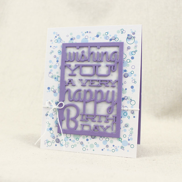 Confetti Text Block Birthday Card