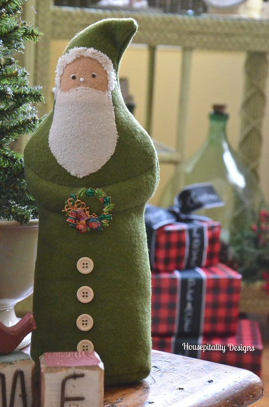 Felted Wool Santa - Housepitality Designs