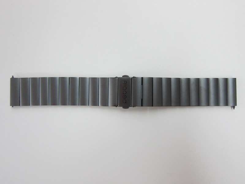 Pebble Time Steel - Gunmetal Black Steel Band - Front