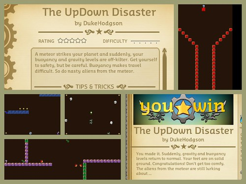 updown disaster buoyancy game collage