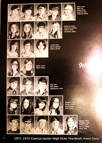 1971 1972 Echo Yearbook Central Junior High School (Future AHS 1975)