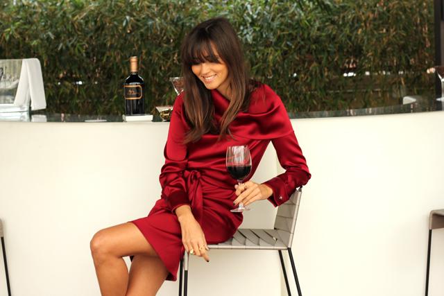 escarda red dress coohuco 3