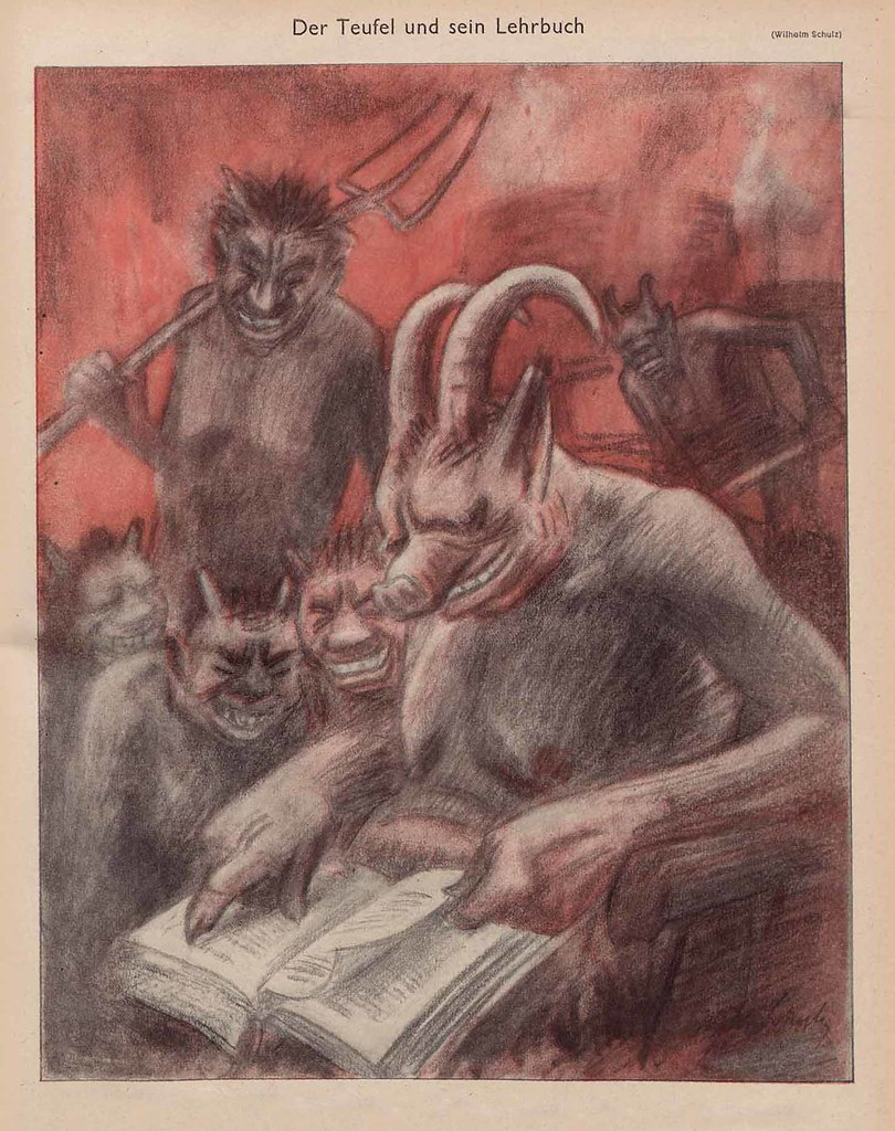 Wilhelm Schulz -The Devil And His Textbook, 1944