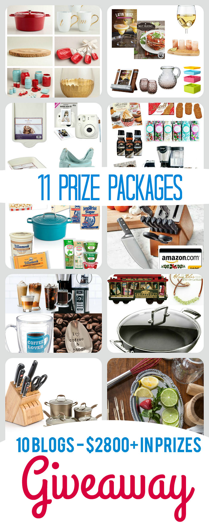 10 amazing bloggers giving away 11 amazing prize packages worth over $2800 combined, come enter and win some of our favorite items