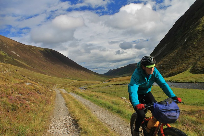 Riding up Gleann Mor