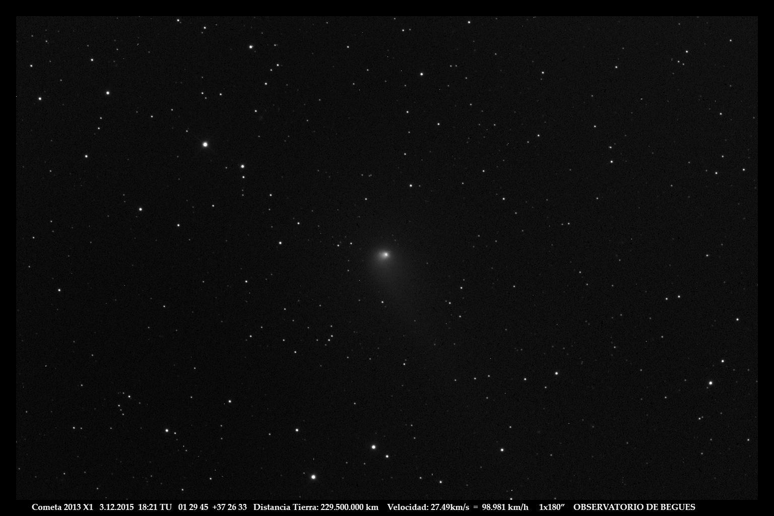Cometa 2013 X1 03 12 2015