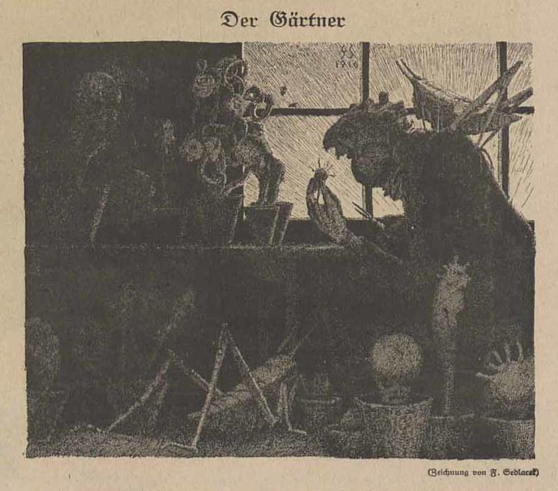 Franz Sedlacek - The Gardener, 1918