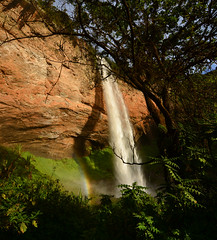 The lower Sipi waterfall