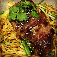 teriyaki sirloin steak soba
