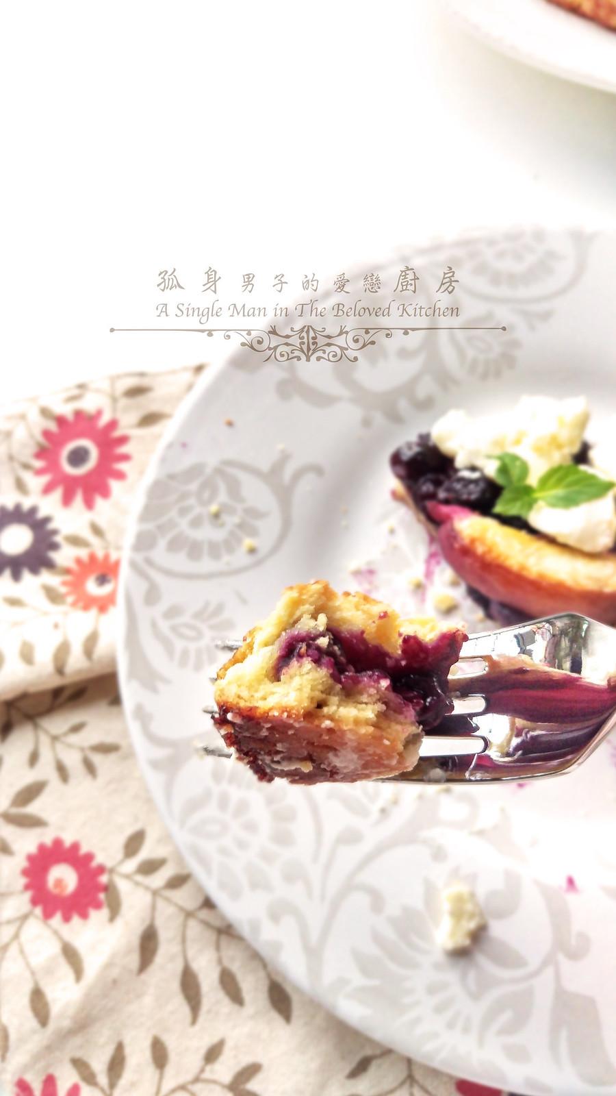 孤身廚房-藍莓甜桃法式烘餅Blueberry-Nectarin Galette36
