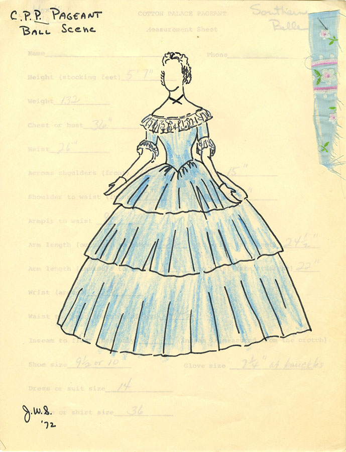 Cotton Palace Pageant dress design