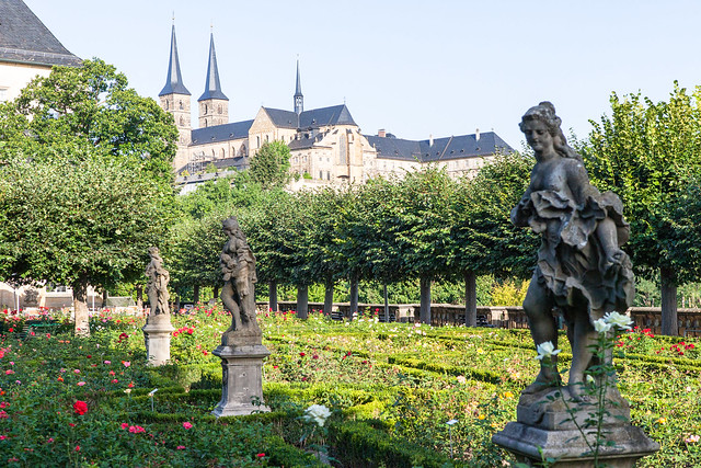 Rose Garden. Bamberg, Upper Franconia, Bavaria, Germany
