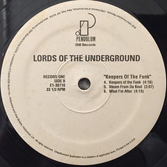 LORDS OF THE UNDERGROUND:KEEPERS OF THE FUNK(LABEL SIDE-B)