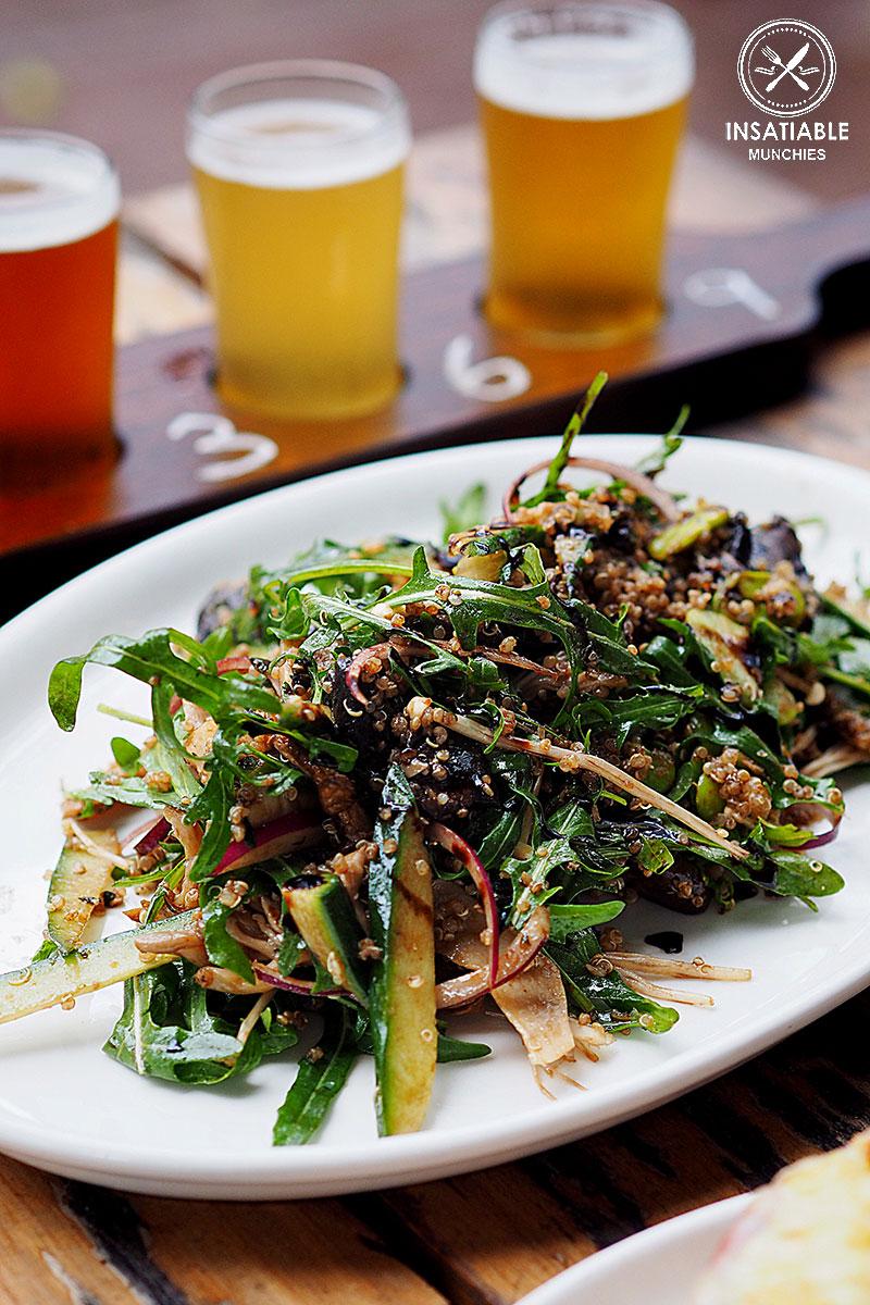 Sydney Food Blog Review of Rocks Brewing Co, Alexandria: Wild Mushroom, Quinoa & Rocket Salad, $21