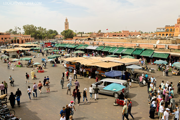 Place Jemaa El Fna Square (21 Fascinating Things to Do in Marrakech Morocco).