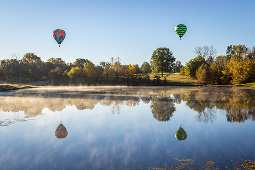 morning water weather reflections balloons day clear kansascity greatmidwestballoonfest2015