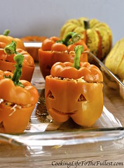 Chicken Stuffed Peppers – Halloween Style