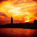 A Fire Sunset Over Venice by Stuck in Customs