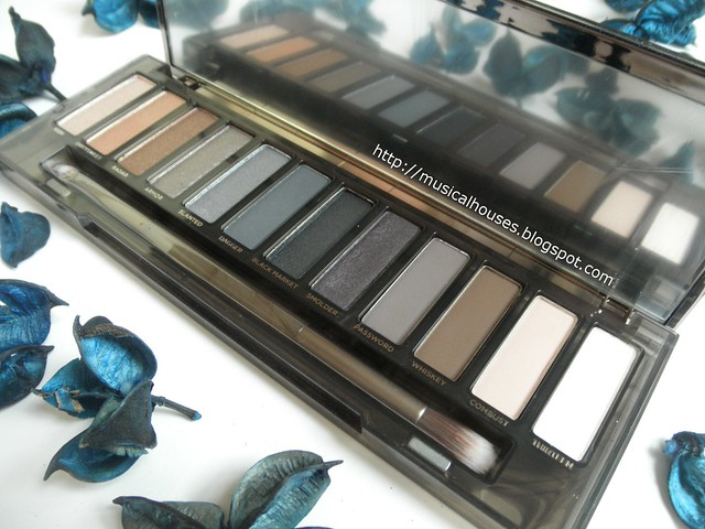 Urban Decay Naked Smoky Palette Eyeshadows Side