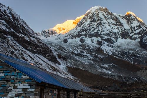nepal snow sunrise trek shed peak np annapurna himalayas 2012 basecamp annapurnabasecamp ghandruk westernregion
