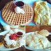 Had breakfast with the fam at Home of Chicken and Waffles... and watched my fantasy football players score