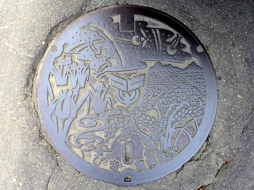 Kubiki Nigata, manhole cover 2 (新潟県頚城村のマンホール2)