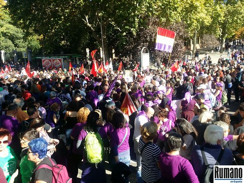 Protest împotriva violenței Madrid 7.11.2015