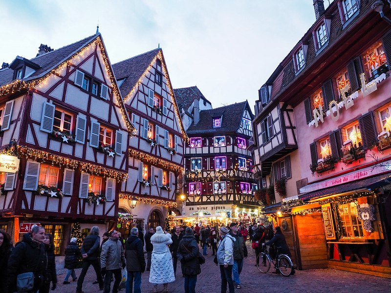 Christmas market in Colmar, France