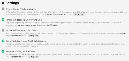 settings for whitespace (ATOM)