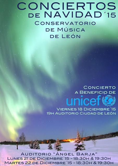 CONCIERTOS DE NAVIDAD 2015 DEL CONSERVATORIO DE MÚSICA DE LEÓN