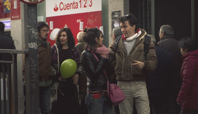 con Antonio, Maite, Paloma, y Aurelian.  Madrid (2015)