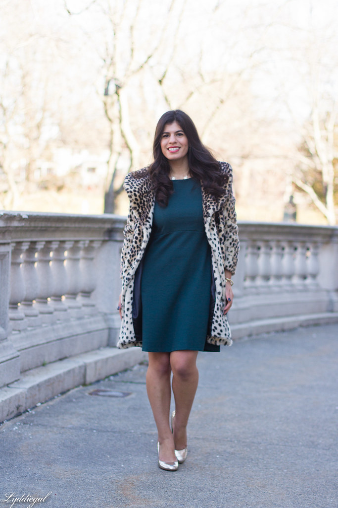 green dress, leopard fur coat, silver pumps, holiday style-6.jpg